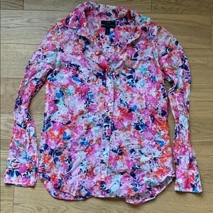 J.Crew Bright Floral Boy shirt size 0